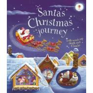 Santa's Christmas Journey with Wind-Up Sleigh and 4 tracks