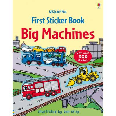First sticker books Big machines