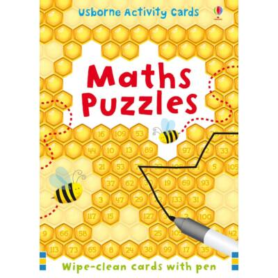 Maths Puzzles - Wipe-clean cards with pen