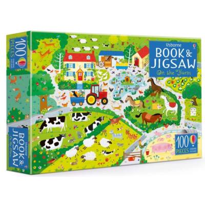 On the farm puzzle book and jigsaw