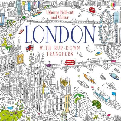 Fold-out and colour London with rub-down transfers