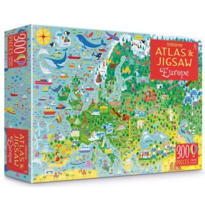 Europe atlas and jigsaw