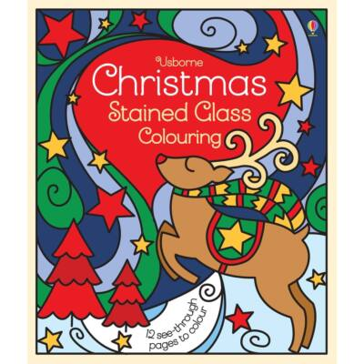 Christmas Stained Glass Colouring