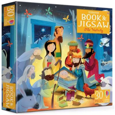 Book and jigsaw The nativity