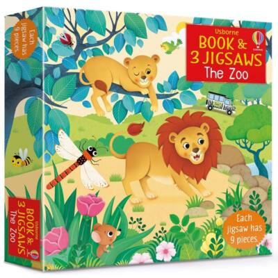 Book and jigsaw - The zoo