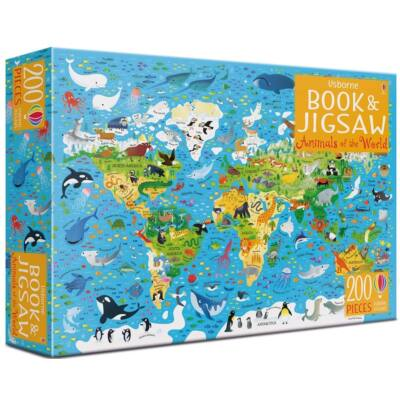 Book and jigsaw Animals of the world