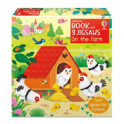 Book and 3 Jigsaws: On the Farm
