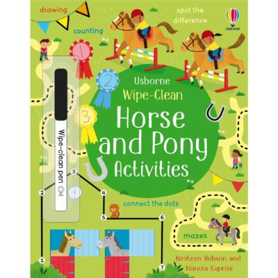 Horse & Pony Activities Wipe-Clean